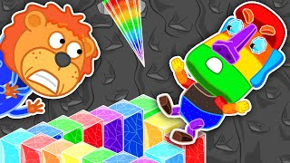 Lion Family 🗿 Journey to the Center of the Earth #58. Rainbow Stone Giant   Cartoon for Kids