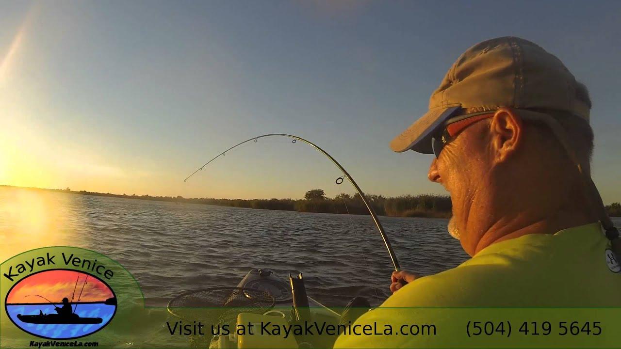 Kayak fishing in venice louisiana november youtube for Kayak fishing louisiana