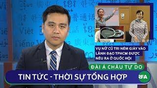 Tin nóng 24h   Vụ ném giày vào lãnh đạo Tp HCM được nêu ra ở Quốc Hội