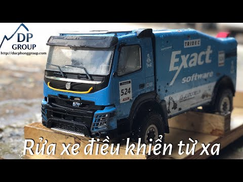 How to clean wash truck 1/14 rc4wd dakar volvo fmx