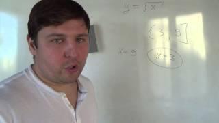 Алгебра 8 класс. Наибольшее и наименьшее значение функции от корня на отрезке и луче