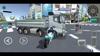 3d운전교실 오토바이로 트럭 가지고놀기 ㅋㅋㅋㅋㅋㅋㅋ