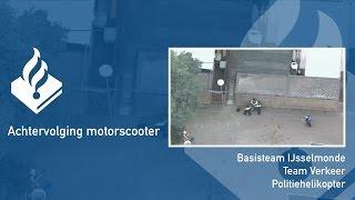 Politie #PRO247 achtervolging motorscooter