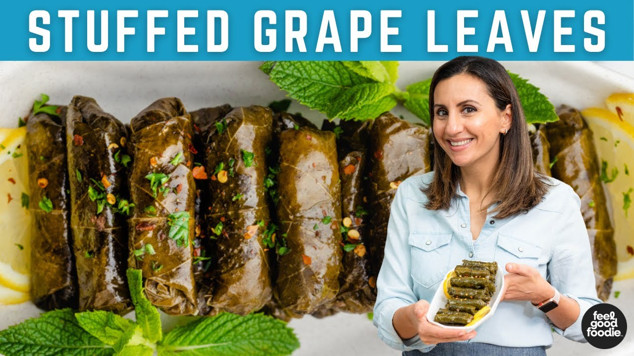 Best Lebanese Stuffed Grape Leaves Youtube