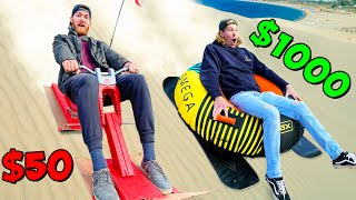 $50 vs $1000 Sand Sleds GONE WRONG!  *BUDGET BATTLE*