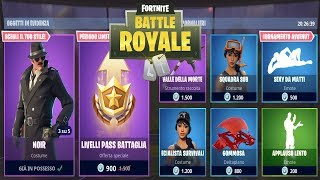 FORTNITE *SHOP* 03/07 | NUOVA SKIN NOIR - 10 LIVELLI PASS BATTAGLIA - SEXY DA MATTI