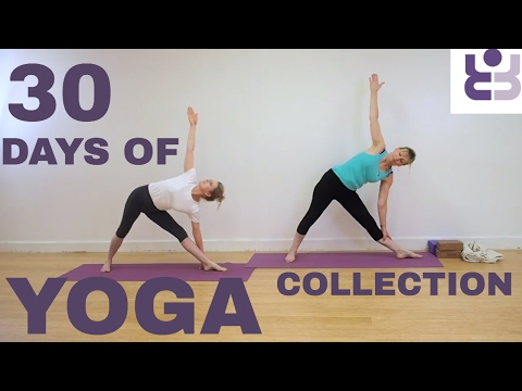 30 days of Yoga - Collection. Yoga poses from the 30 days. (Silent Led Practice)