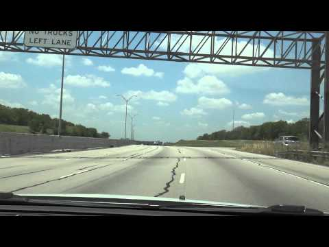 Driving from Arlington TX to Fort Worth TX on I-30 Westbound