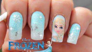 Decoración de uñas Frozen Disney - Frozen Nail Art Disney Inspired