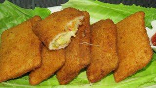 Bread Chicken Pockets Ramadan Special  Chicken Pocket Recipe  by Sheeba&#39s kitchen  Tea Time Snacks