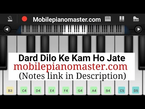 Dard Dilo Ke (Slow & Easy)Piano Tutorial|Piano Keyboard|Piano Lessons|Piano Music|learn Piano Online