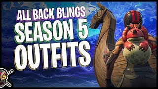 All Back Blings sur la saison 5 Battle Pass Outfits (fr) Niveau 100 - Fortnite Cosmetics