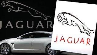 How to draw JAGUAR logo / AUTO LOGO car