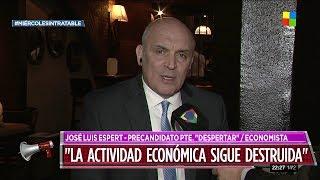 """José Luis Espert en """"Intratables"""" con Fabián Doman, por América el 15 de mayo de 2019"""