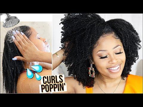 JUICY 2-PRODUCT WASH 'N GO ROUTINE! ➟ natural hair tutorial thumbnail