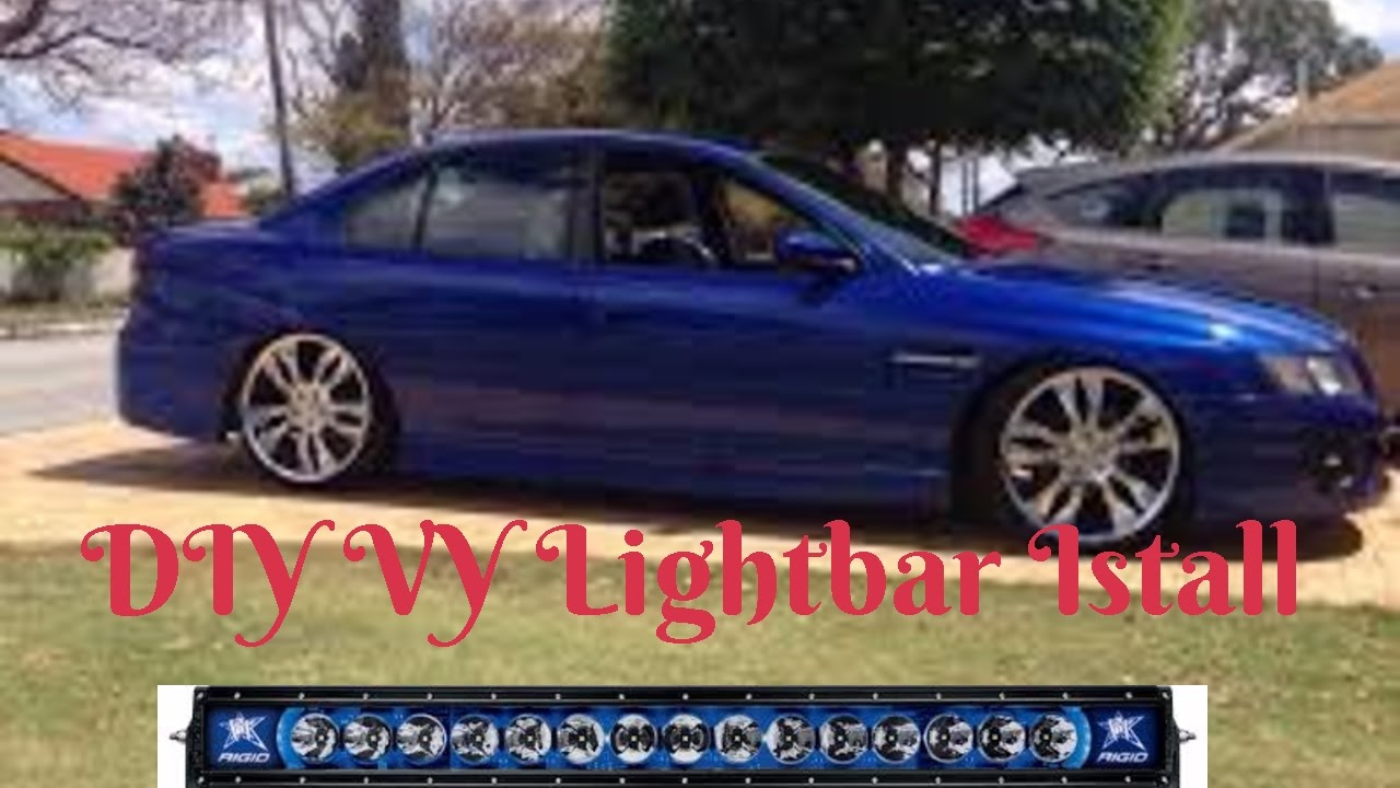 hight resolution of how to install a ebay light bar on a vy comodore