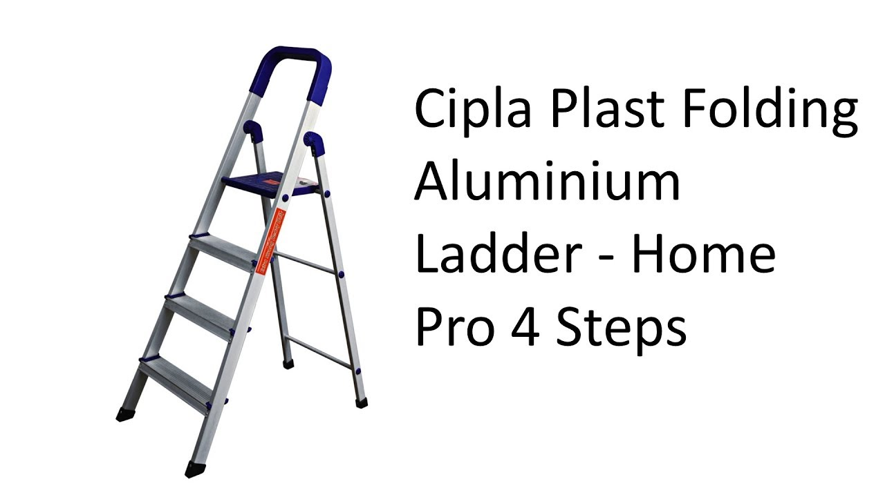 Cipla Plast Folding Aluminium Ladder - Home Pro 4 Steps - Unboxing and  Review