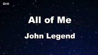All of Me - John Legend Karaoke 【With Guide Melody】 Instrumental