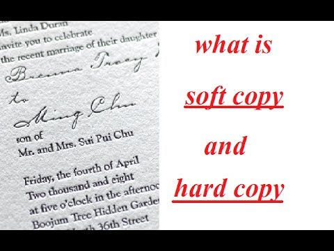 what is a soft copy and hard copy || hindi || d tech ||