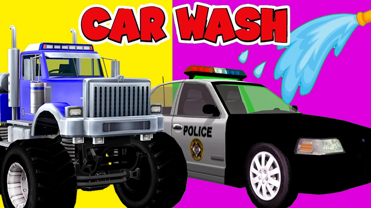 Kids Garbage Truck Car Wash Video