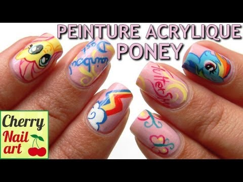 Nail art my little pony youtube nail art my little pony prinsesfo Gallery