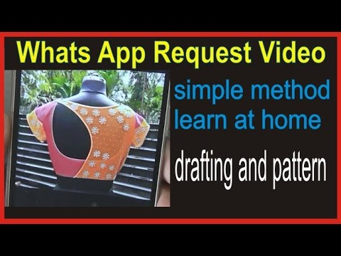 Whats App Request Back Neck Drafting Design and Pattern Making /free Online Class part 2 of 2