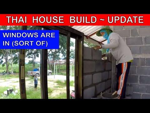 BUILDING A THAI HOUSE - THE WINDOWS ARE IN Rural life Thailand Homestead THAI VLOG THAI VLOGG บ้าน