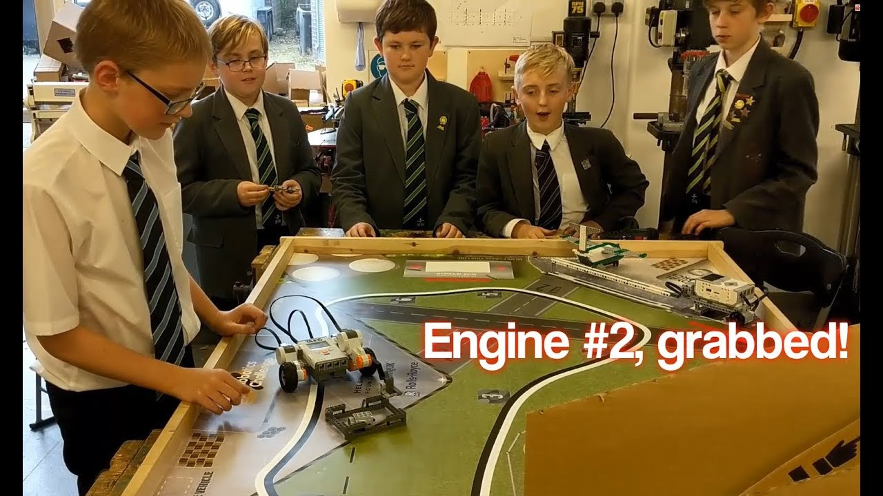 Torquay Academy - Lego Robotics Club - James explains how he solved Collect  the Engine