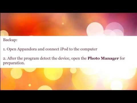 Appandora Video Tutorial | How To Backup And Restore Photos Of Ios Devices