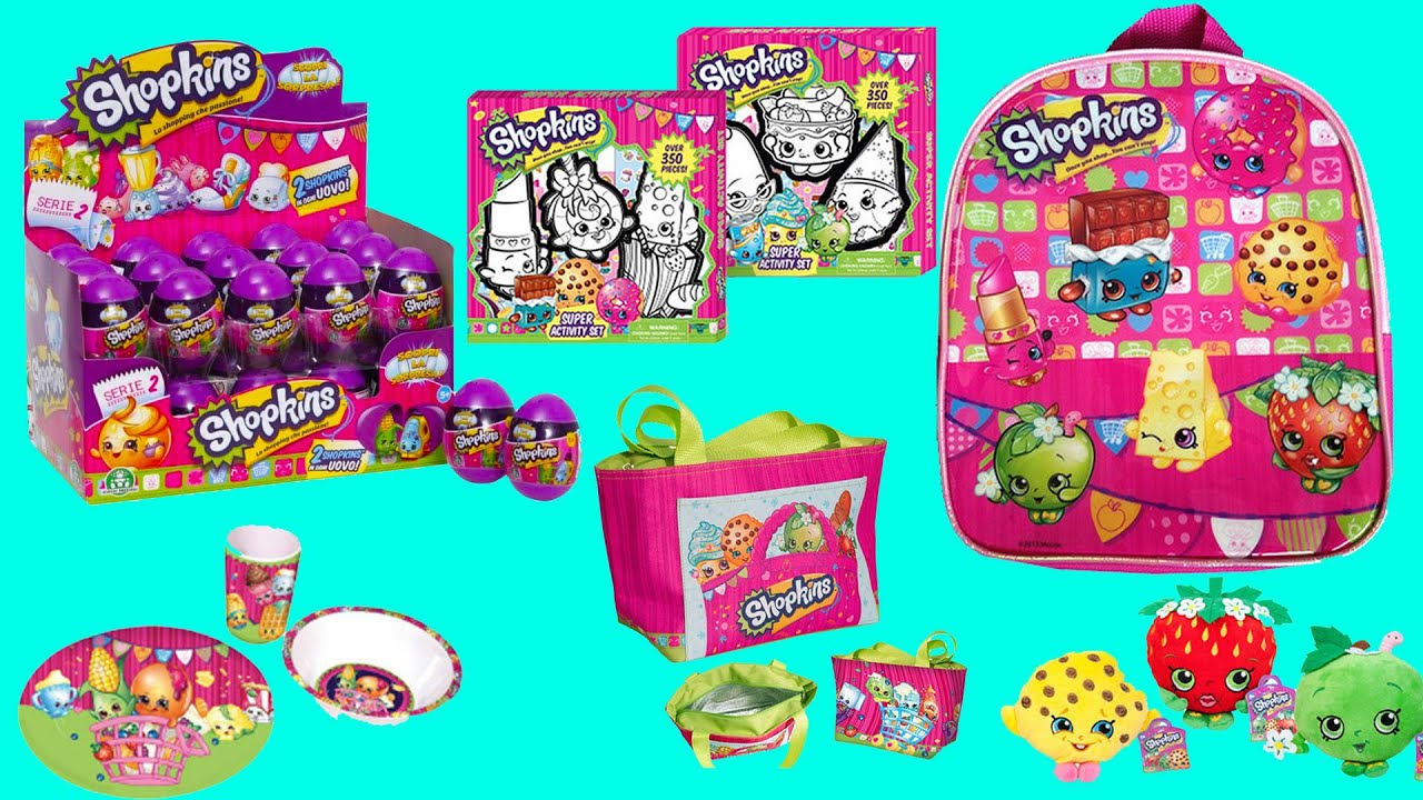 New Shopkins Backpack Purse Art Kit Games Stickers Blind