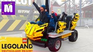 Германия #2 Леголенд парк аттракционов Макс катается на американских горках Legoland Germany trip(Второй день в Германии Леголэнд Фериндорф, катаемся на атракционах, катаемся на машинках с горок, выигрывае..., 2016-04-12T12:00:01.000Z)