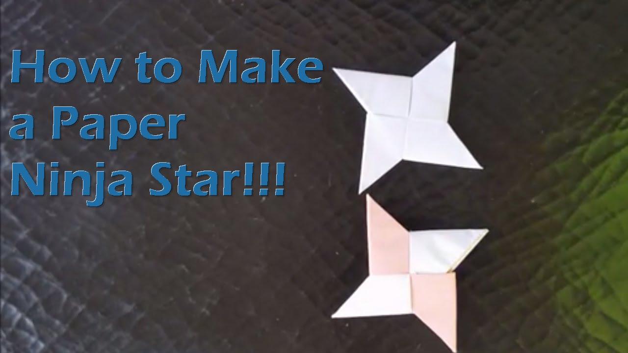How To Make A Paper Ninja Star Shuriken Youtube