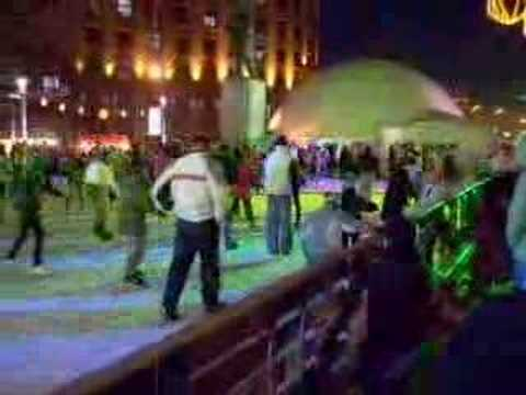 "Ice skating on ""Nikola Pasic"" square"