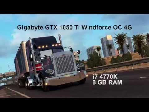 American Truck Simulator ULTRA Gameplay [Gigabyte GTX 1050 Ti Windforce OC 4G | i7 4770K]