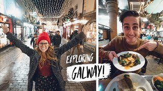 Exploring The CUTEST IRISH TOWN! + Trying Incredible Seafood 🍽(Galway, Ireland)