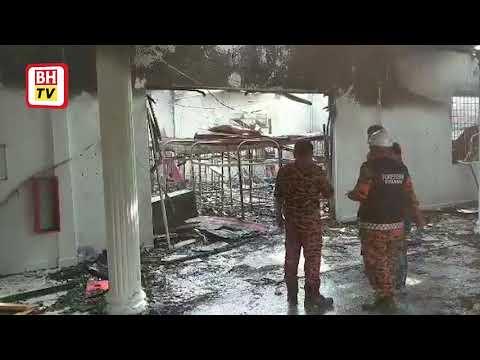 Asrama Sekolah Tinggi Islam Terbakar