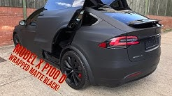 Tesla Model X Wrapped Matte Black