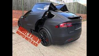 Tesla Model X Wrapped Matte Black
