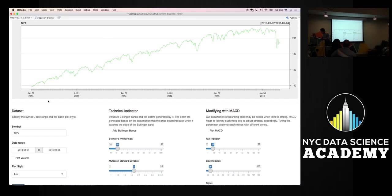 R Shiny demo: Trading Strategy backtesting and Find Fastest subway in NYC