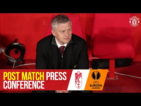 """Solskjaer: """"2nd goal so vital away from home""""   Granada CF 0-2 Manchester United   Press Conference"""