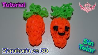 ♥ Tutorial: Zanahoria en 3D (sin telar) ♥