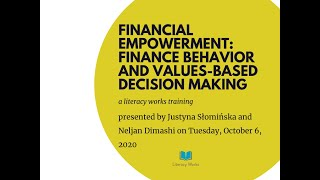 Financial Empowerment: Finance Behavior and Values-Based Decision Making