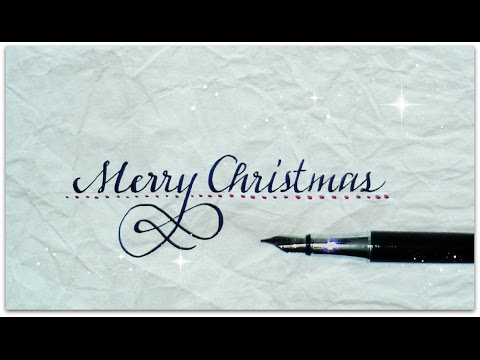 calligraphy - how to write merry christmas (version 3) - YouTube