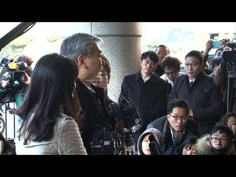 Korean Air CEO in court for daughter's 'nut rage' trial