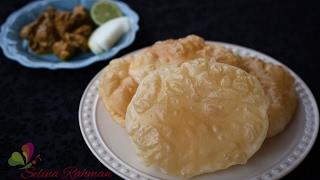 Soft and Fluffy Poori Fulko Luchi Tasty and Easy Recipe R# 129