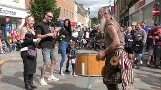 """""""Ya Bassa"""" from Scottish tribal band Clanadonia has public dancing in the streets of Perth, Scotland"""
