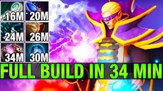FULL BUILD IN 34 MIN - inYourdreaM 8.5K MMR Plays Invoker - Dota 2