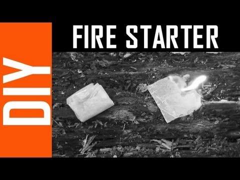 Great DIY Fire Starter - Wax Paper!