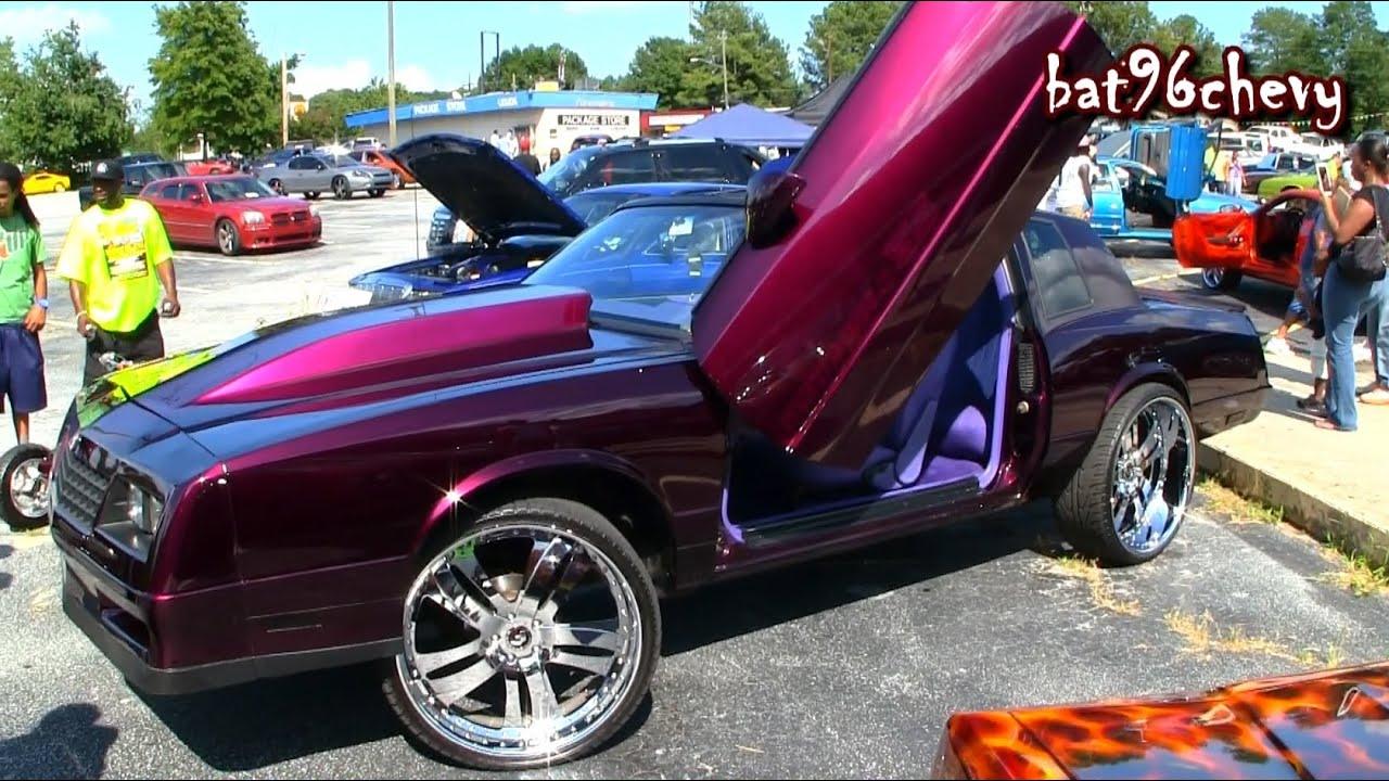 Candy Purple Monte Carlo Ss On 24 Quot Forgiato Chrome Wheels