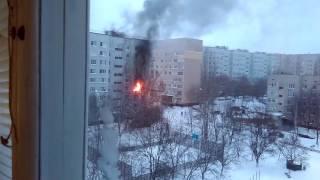 Пожар в Южноукраинске 8 января 2017